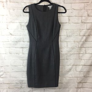 H&M Career Work Gray Black Sleeveless Dress 4